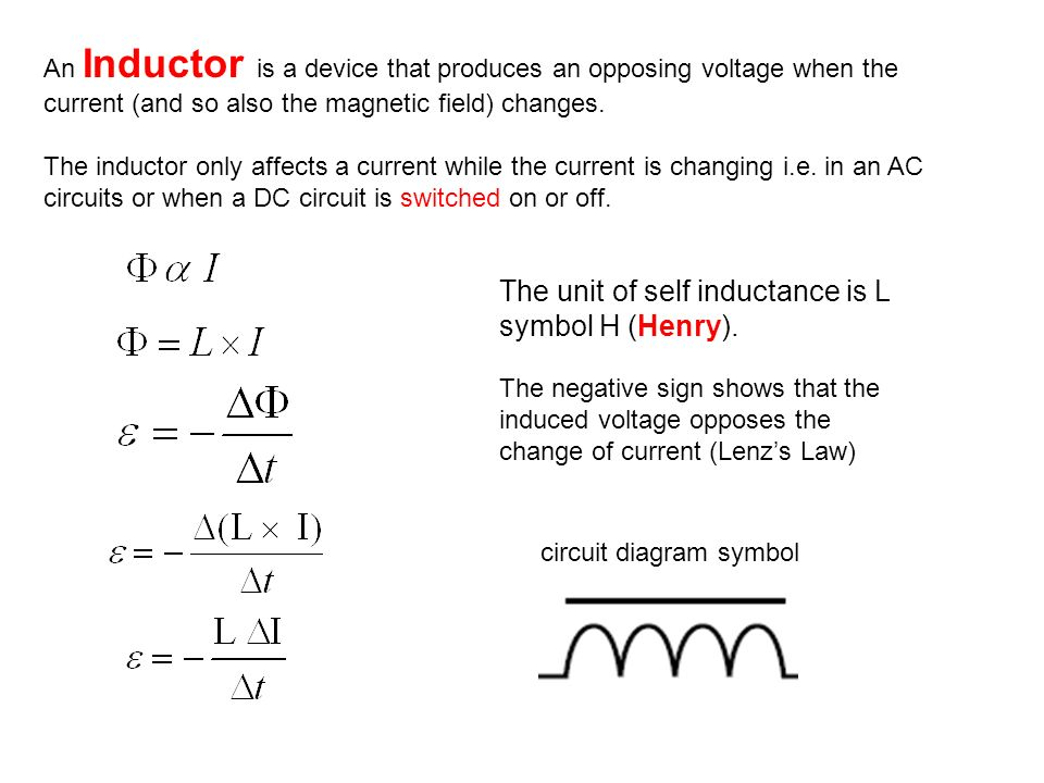 inductors   circuit diagram symbol