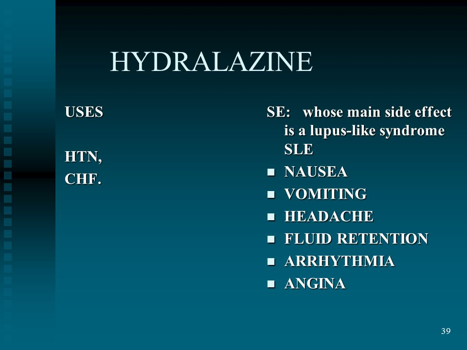 what is hydralazine used for