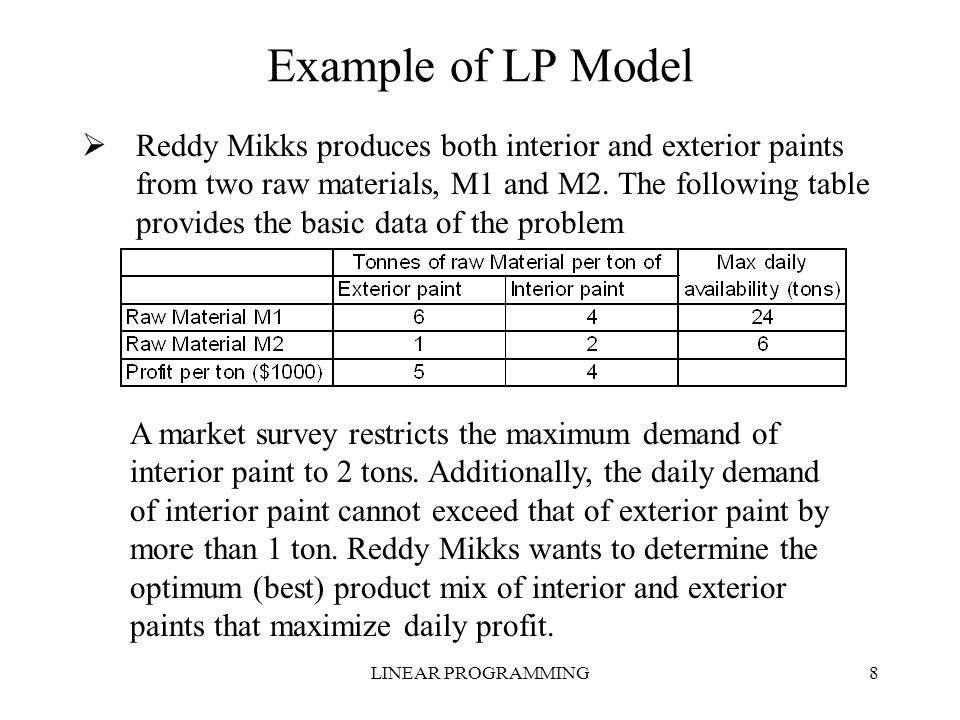 Linear Programming Ppt Video Online Download