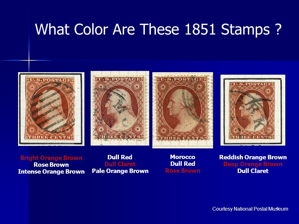 What Color Are These 1851 Stamps