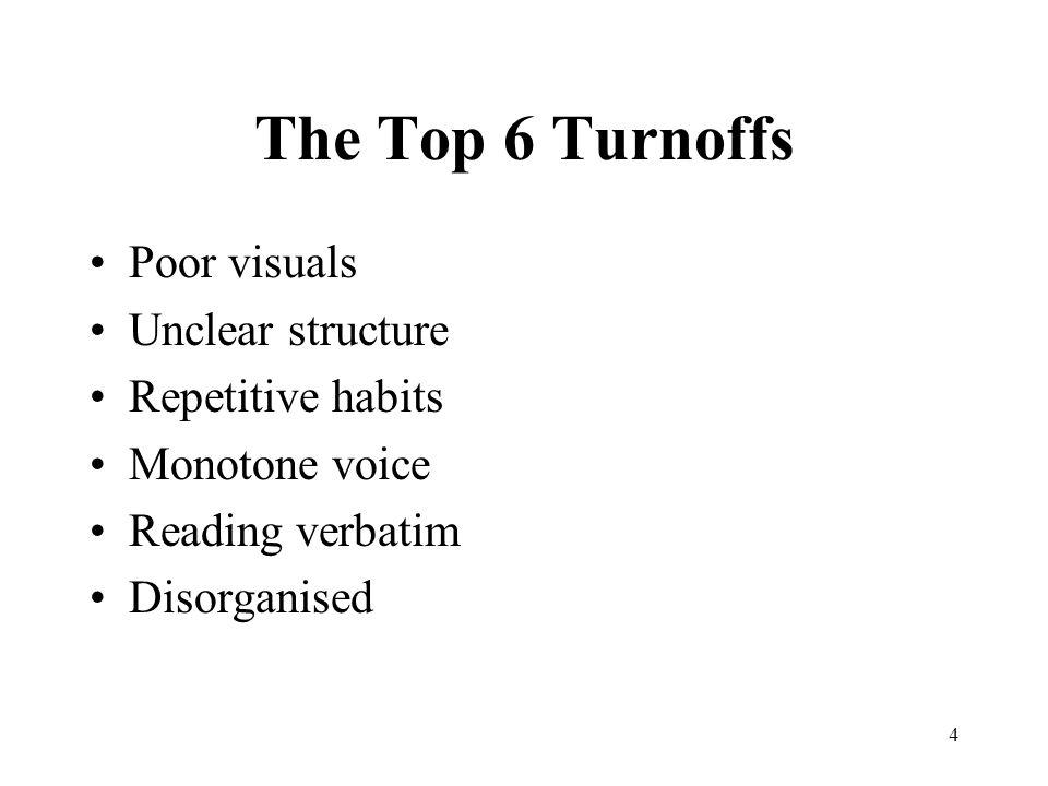 4 turn offs