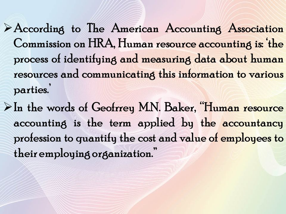 Human resource accounting ppt video online download.