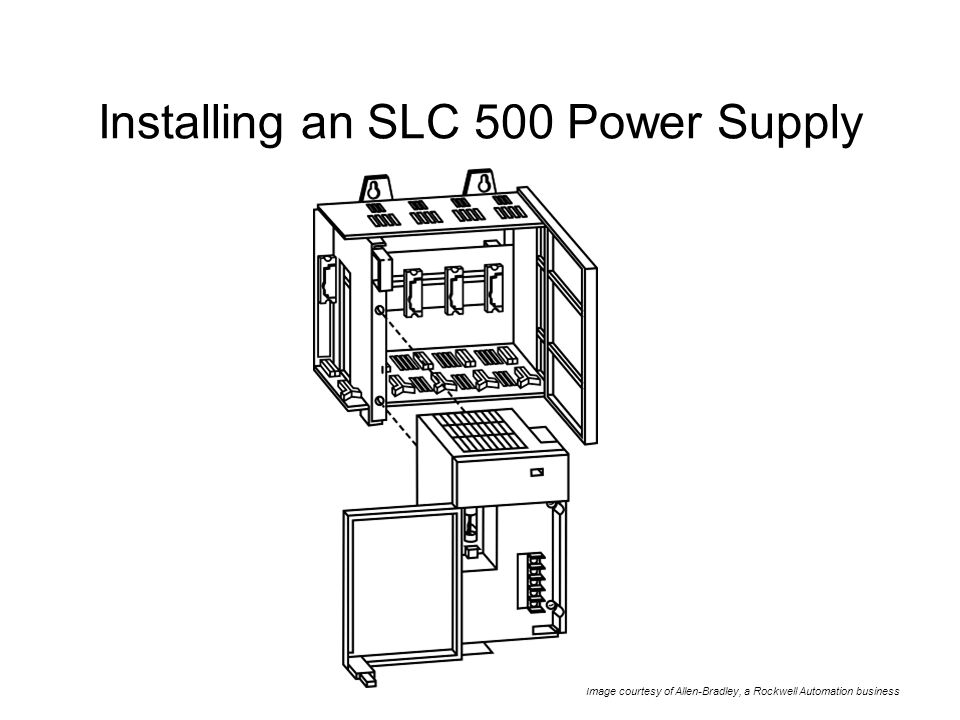 installing an slc 500 power supply