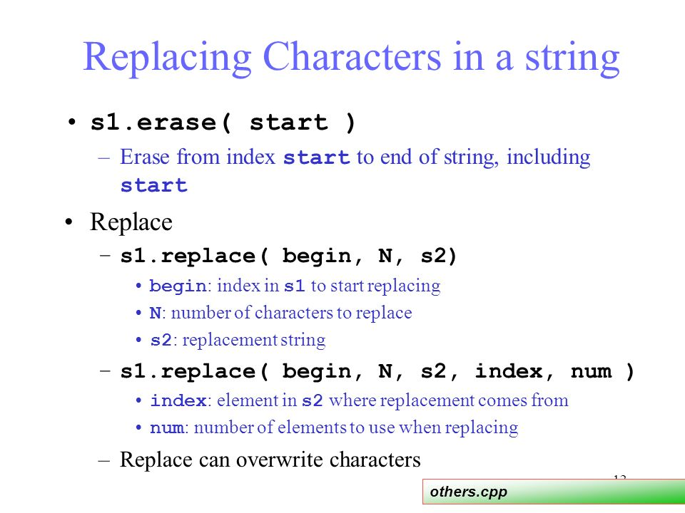 LECTURE 6 cs201 C++ Strings  - ppt video online download