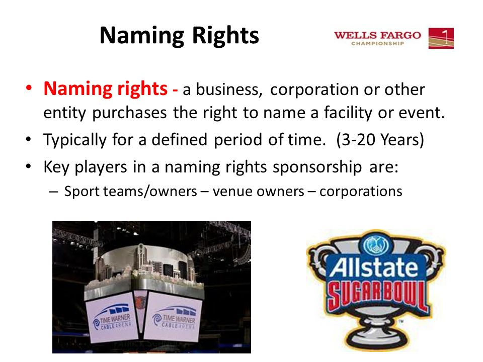 Sem Pi Explain The Use Of Sponsorship And Naming Rights In Sport
