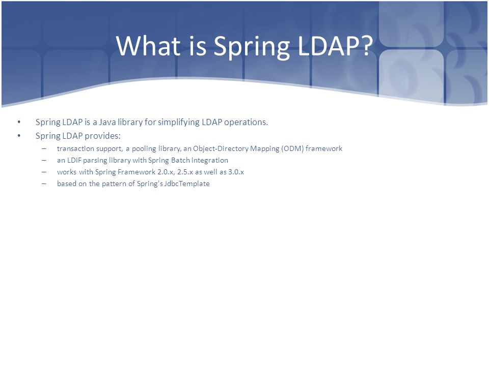 Spring LDAP Dima Ionut Daniel  - ppt video online download