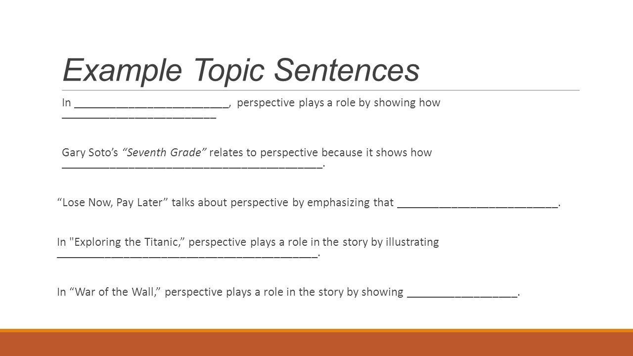 Perspective – point of view - ppt video online download