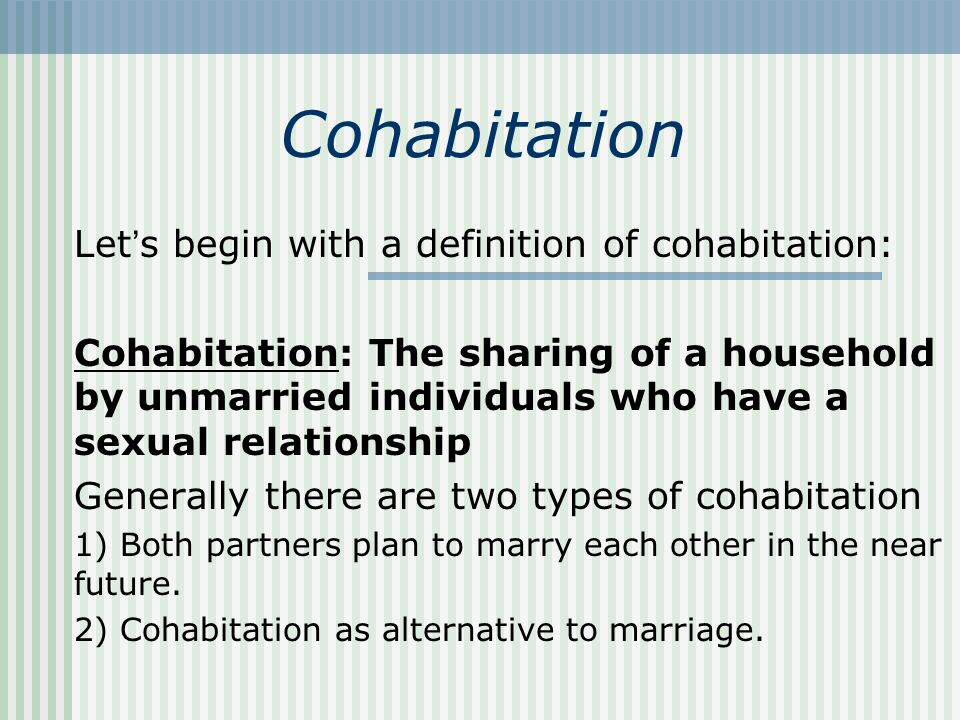 Image result for cohabitation