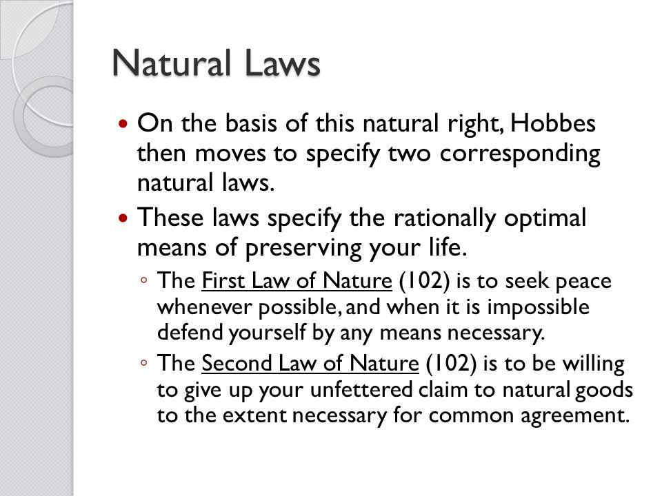 hobbes natural rights