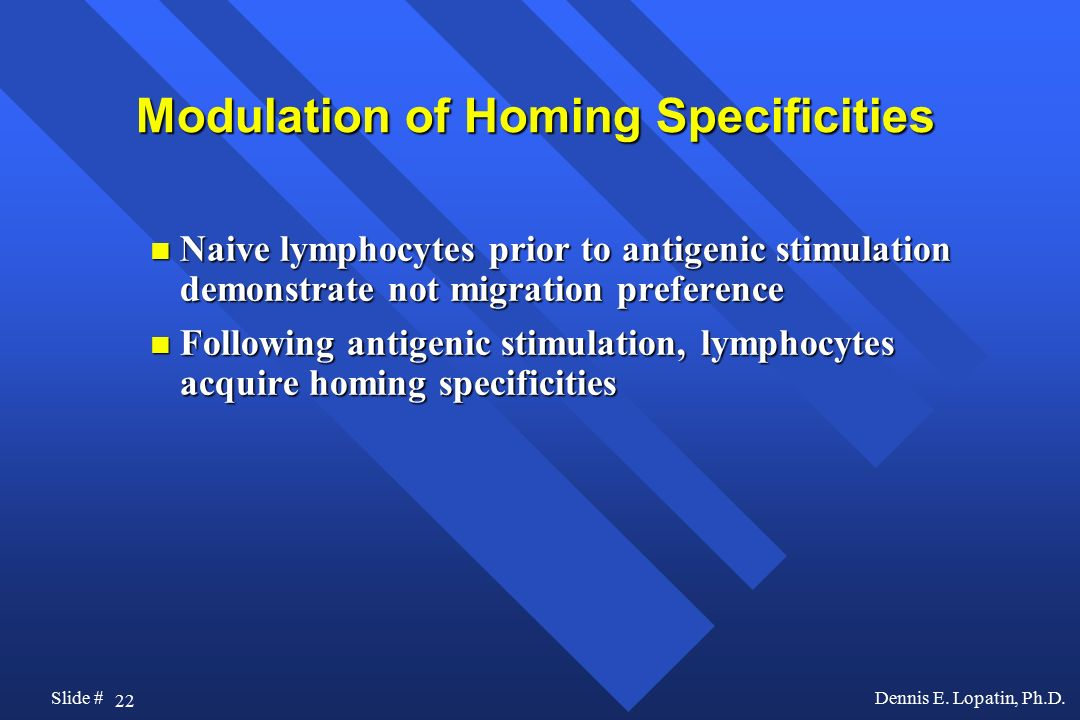 Modulation of Homing Specificities