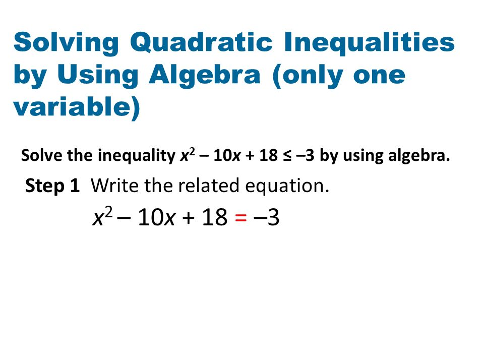 Word Problem Worksheet Questions Ppt Video Online Download. Solving Quadratic Inequalities By Using Algebra Only One Variable. Worksheet. Inequality Problems Worksheet At Clickcart.co
