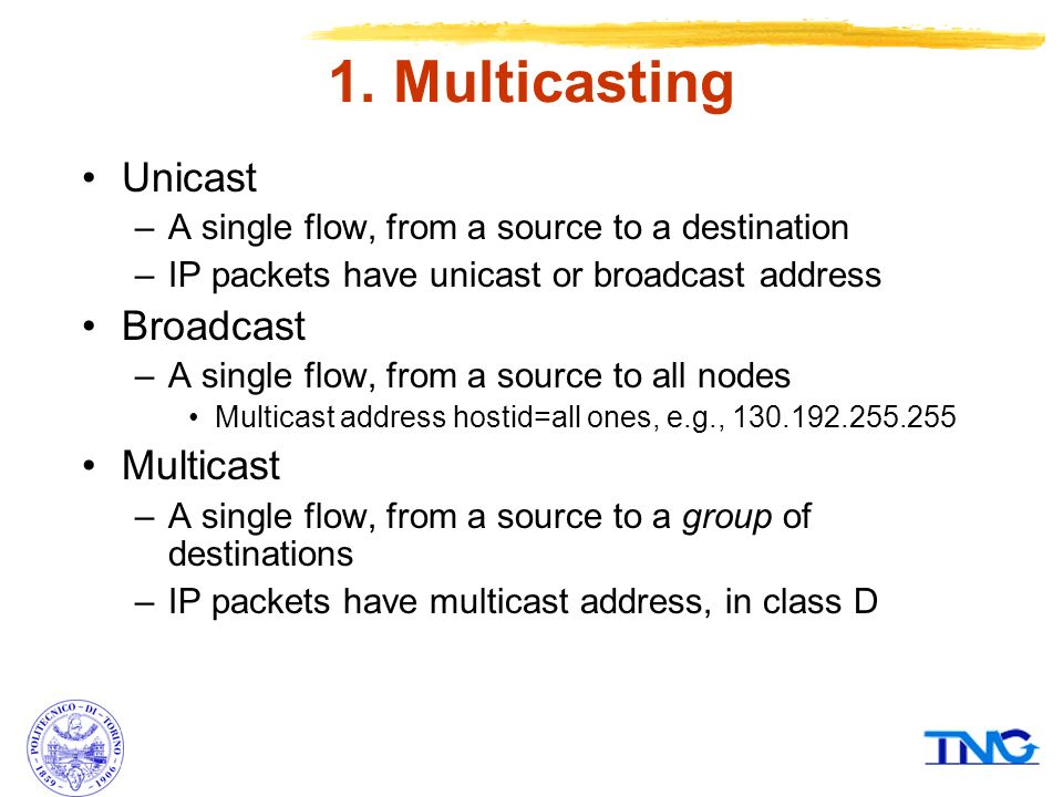 Multicast Communications - ppt video online download