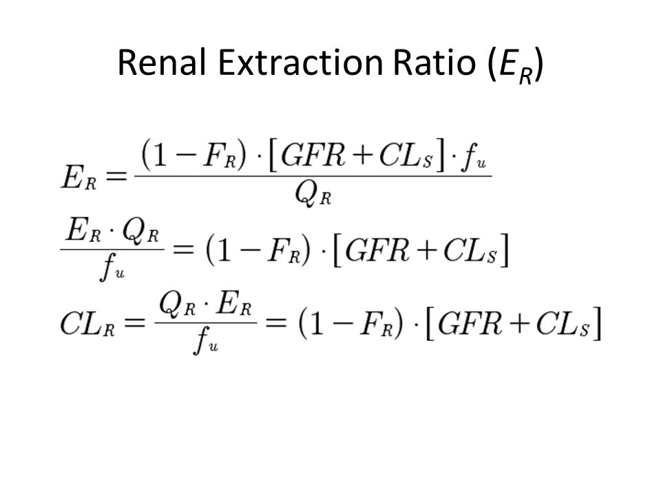 Renal Extraction Ratio (ER)