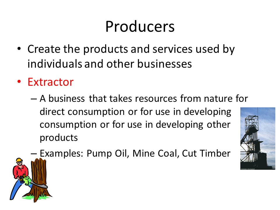 Types Of Businesses Producers Intermediaries Service Businesses