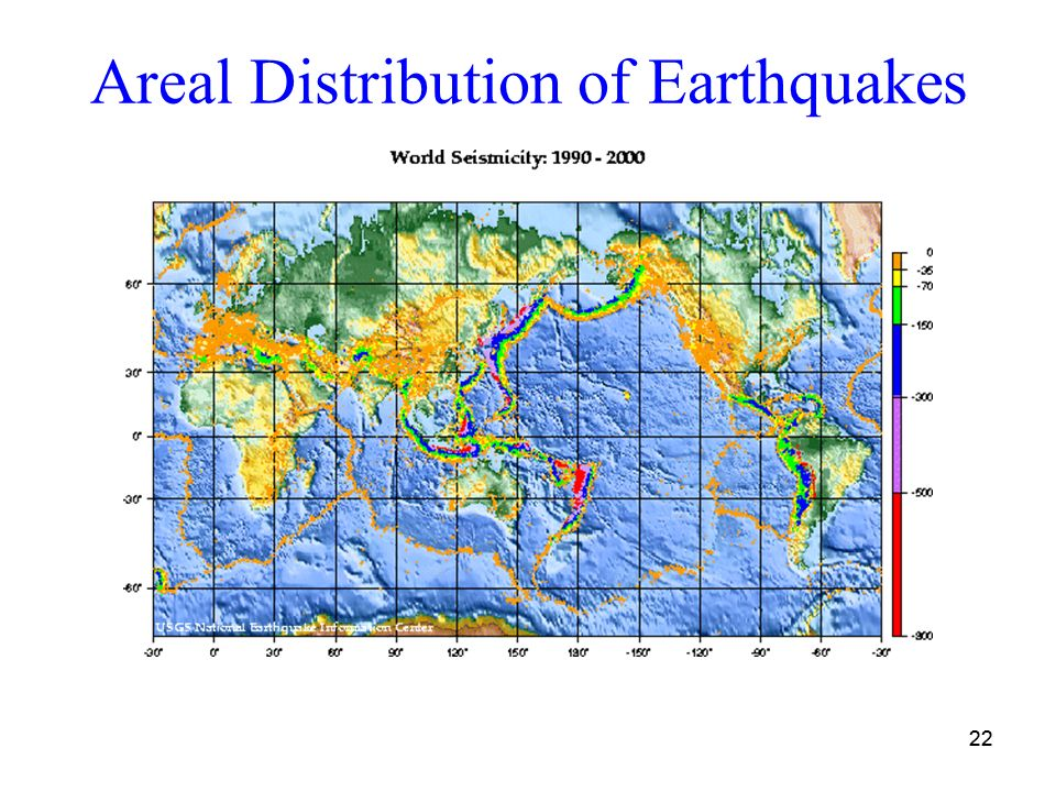 Earthquakes and the earths interior ppt download areal distribution of earthquakes gumiabroncs Choice Image