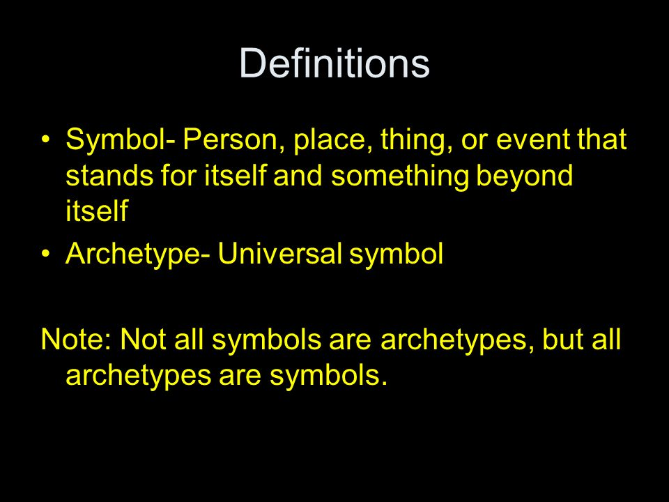 Symbols And Archetypes Ppt Video Online Download
