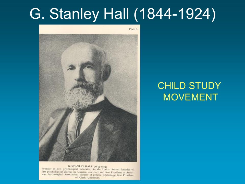 founder of the child study movement