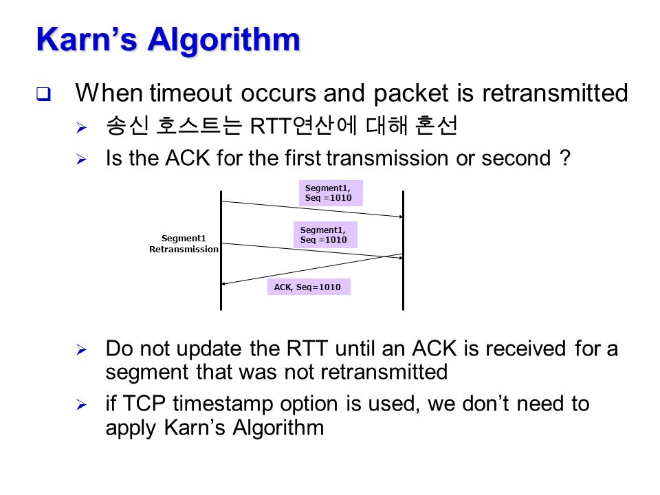 TCP Timeout and Retransmission - ppt video online download