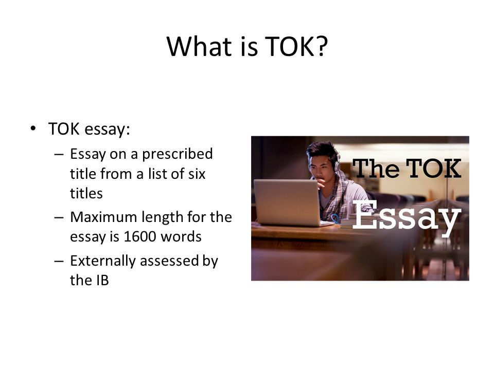 ib tok essay submit The essay has a clear introduction which indicates the scope of the essay the essay is fully focused on the title and the distinction between personal and shared knowledge along with the idea of shared knowledge influencing personal knowledge is very much at the forefront of the essay.