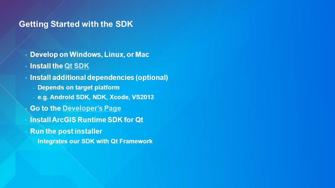 Developing Cross Platform Apps with the ArcGIS Runtime SDK for Qt