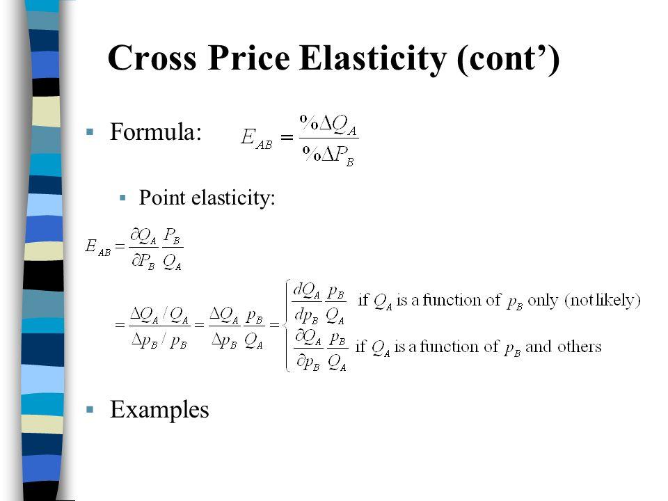 Cross Price Elasticity Of Demand Formula Example Pregnancy Test Kit