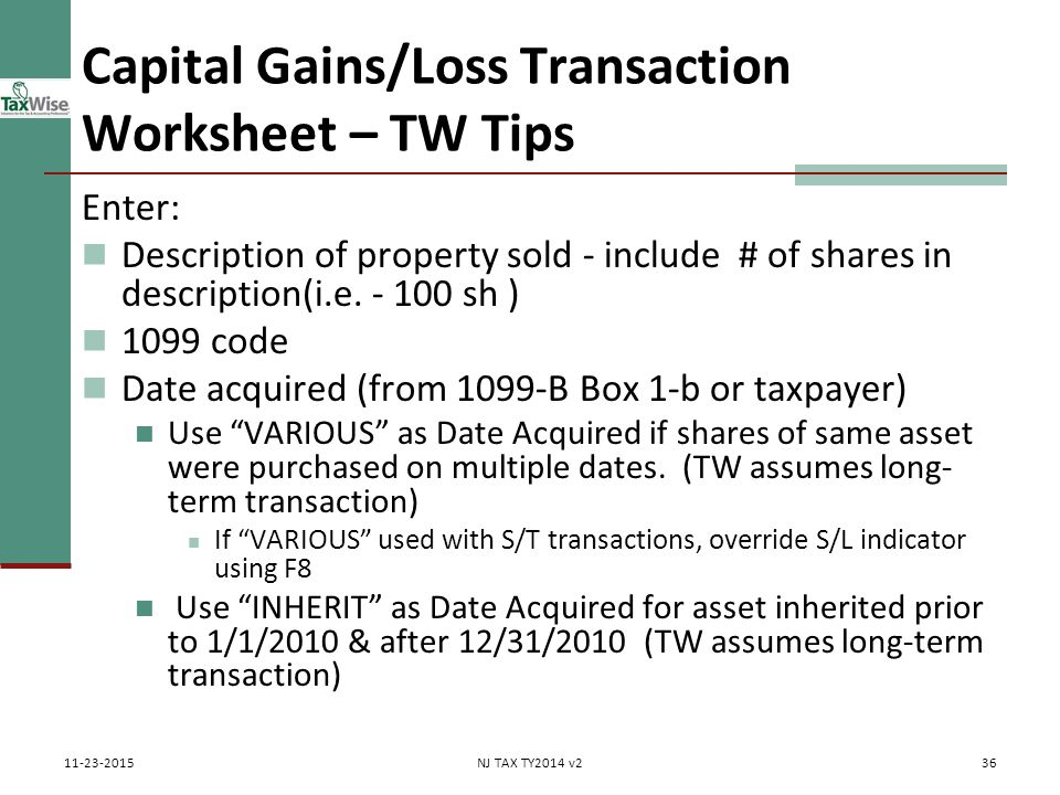 Capital gains losses including sale of home ppt download capital gainsloss transaction worksheet tw tips ibookread ePUb