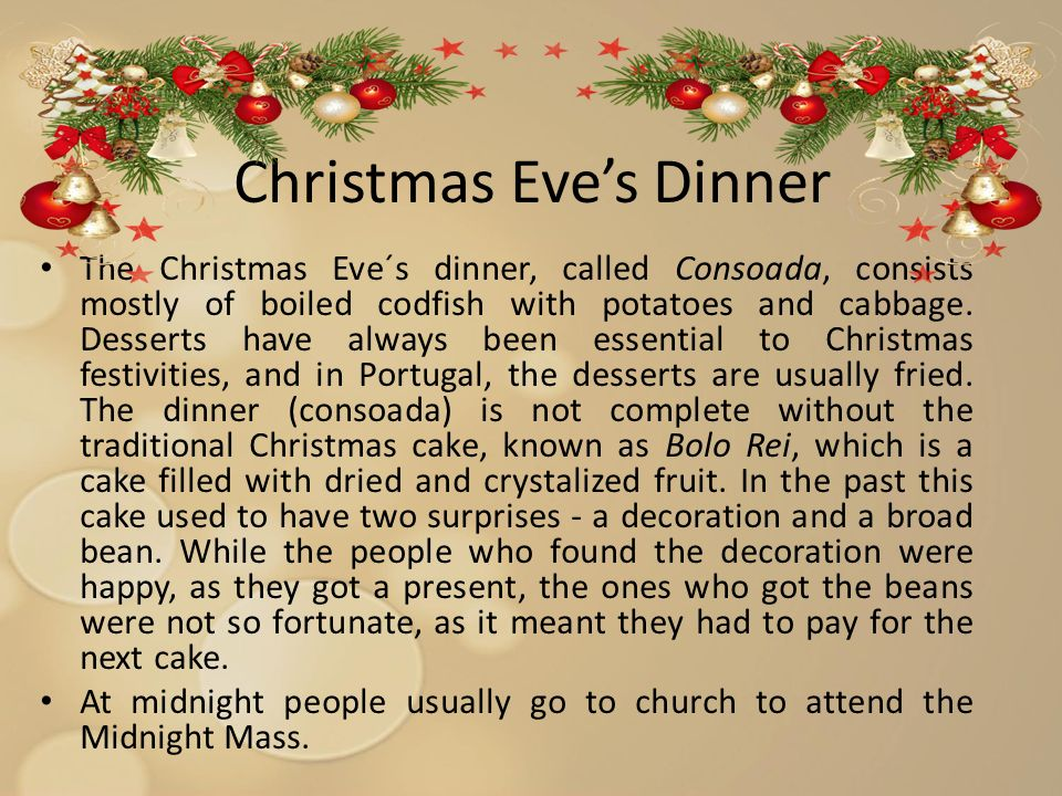 3 christmas eves dinner - Christmas In Portugal