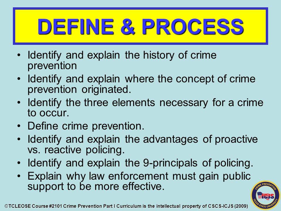 advantages of crime prevention