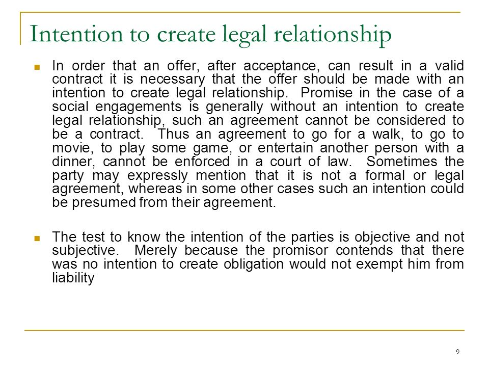 relationship promise contract