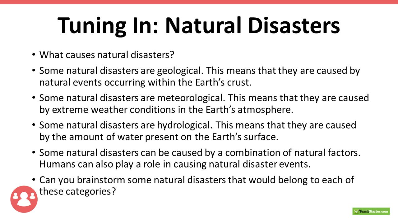 Four Effects Of Natural Disasters