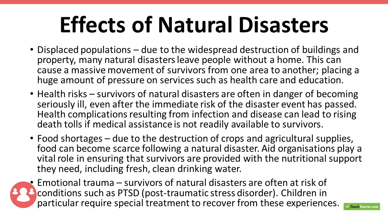 Impact Of Natural Disasters On Health