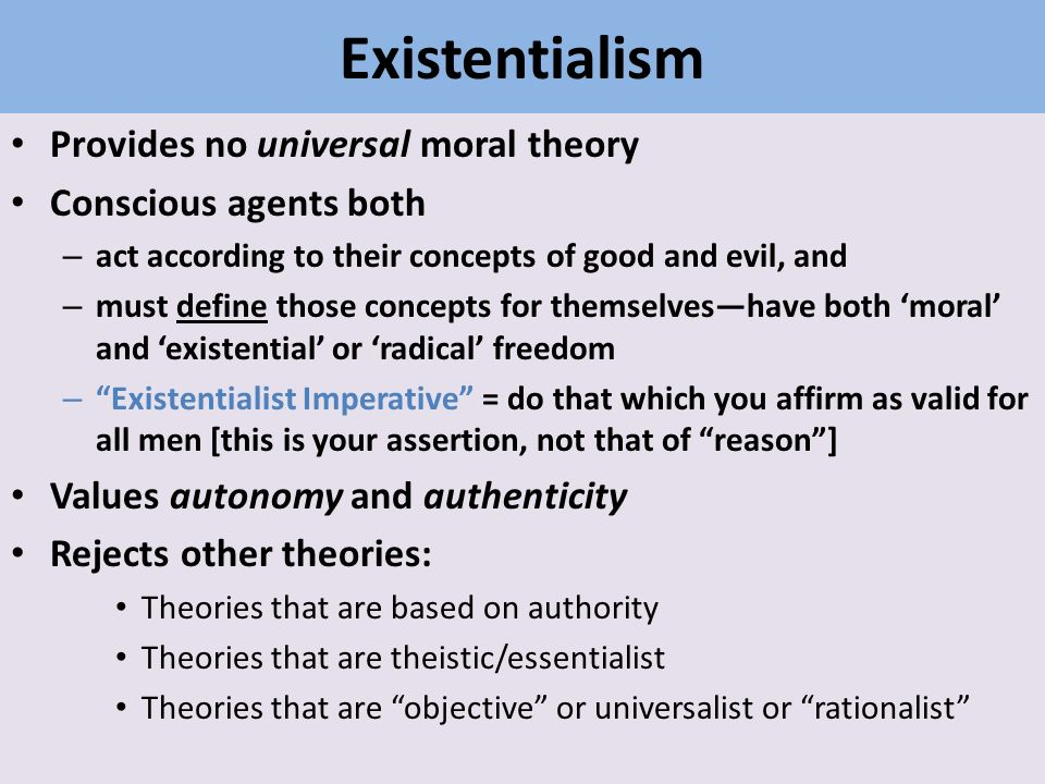 Existentialism Ethics Of Authenticity Ppt Download
