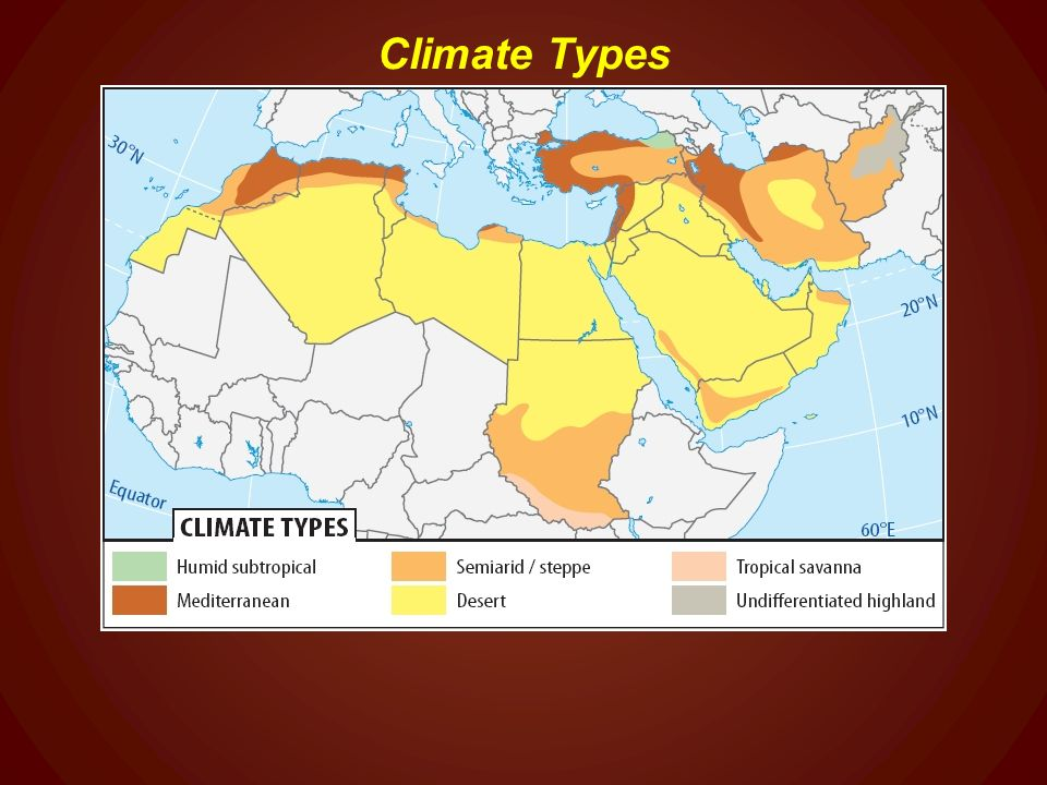 A Geographic Profile of the Middle East & North Africa - ppt ... on map of sri lanka climate, map of new zealand climate, map of south west asia climate, map of china climate, map of georgia climate, map of spain climate, map of germany climate, map of niger climate, map of chad climate, map of chile climate, map of madagascar climate, map of mongolia climate, map of united states climate, map of south korea climate, map of puerto rico climate, map of greece climate, map of iran climate, map of latin america climate, map of india climate, map of middle east climate,