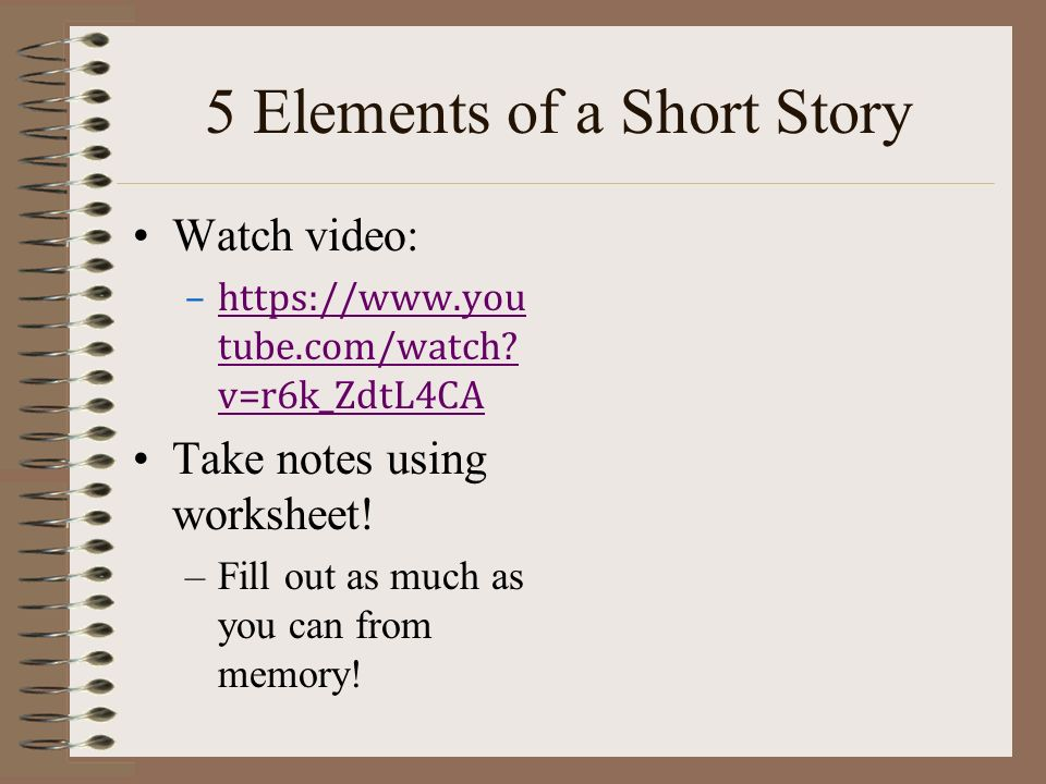 Elements Of A Short Story Ppt Video Online Download. 5 Elements Of A Short Story. Worksheet. Elements Of A Story Worksheet At Mspartners.co