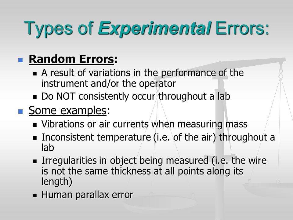 Errors And Uncertainties Ppt Download