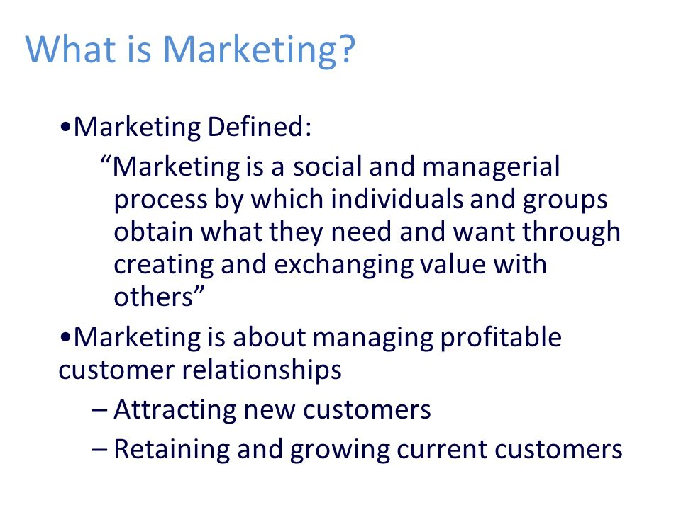 Marketing Management Chapter 1 Ppt Video Online Download