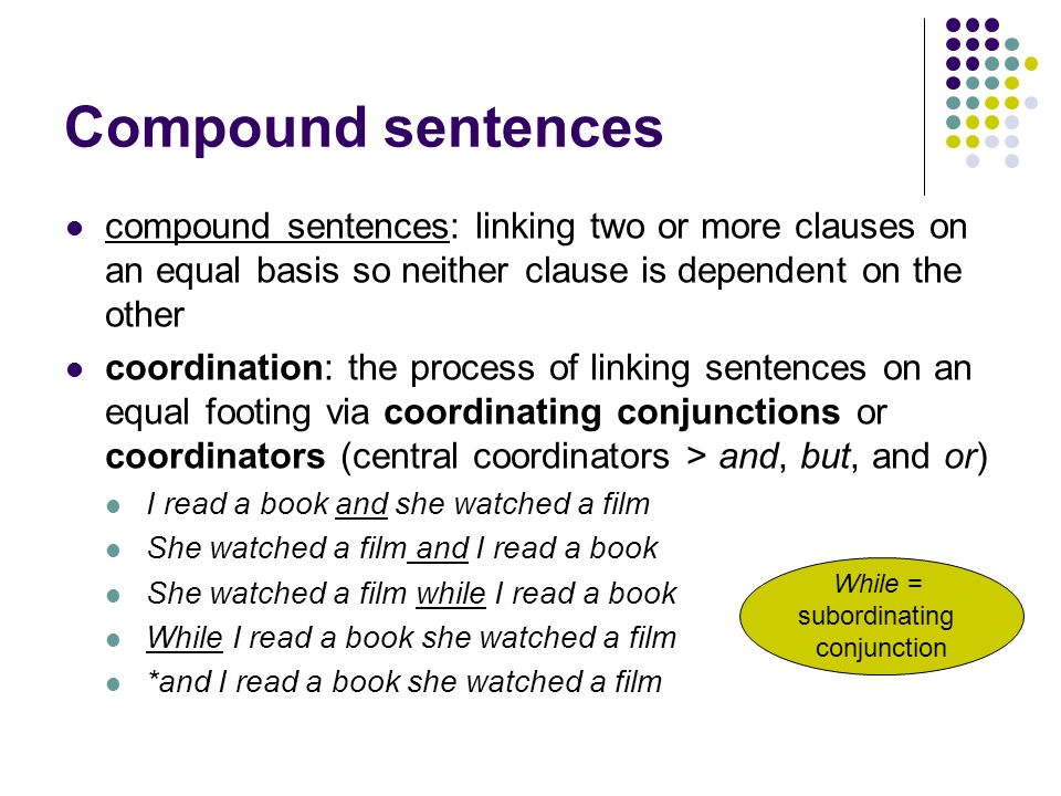 linking clauses