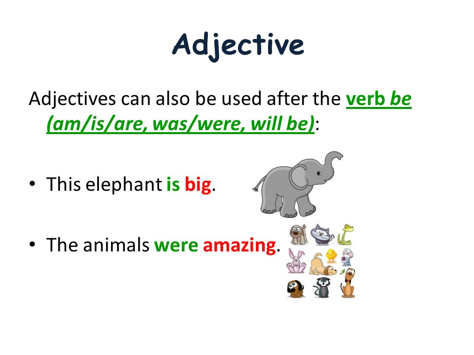 Adjectives. Adjectives Adjective An adjective is a word that ...