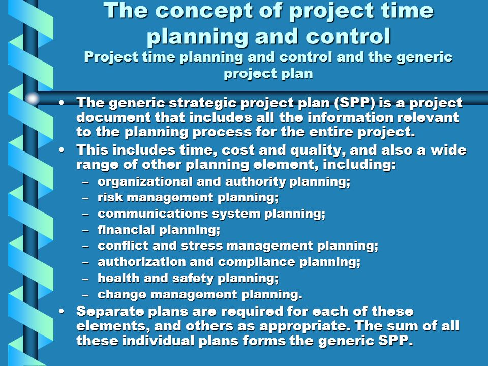 project process planning and control pdf