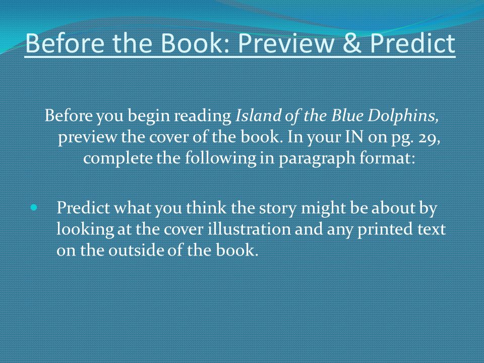 Island Of The Blue Dolphins By Scott Odell Ppt Download