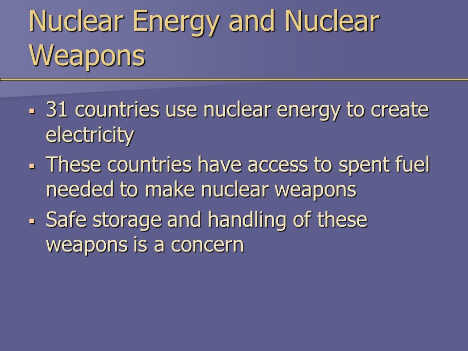 why we shouldn t use nuclear energy Arguments for nuclear abolition the humanitarian case the abolition of nuclear weapons is an urgent humanitarian necessity any use of nuclear weapons would have catastrophic consequences.
