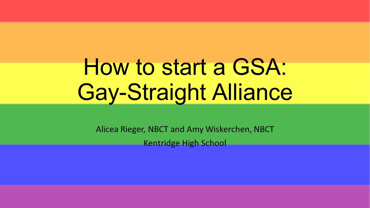 How to Start a GayStraight Alliance at Your School recommend