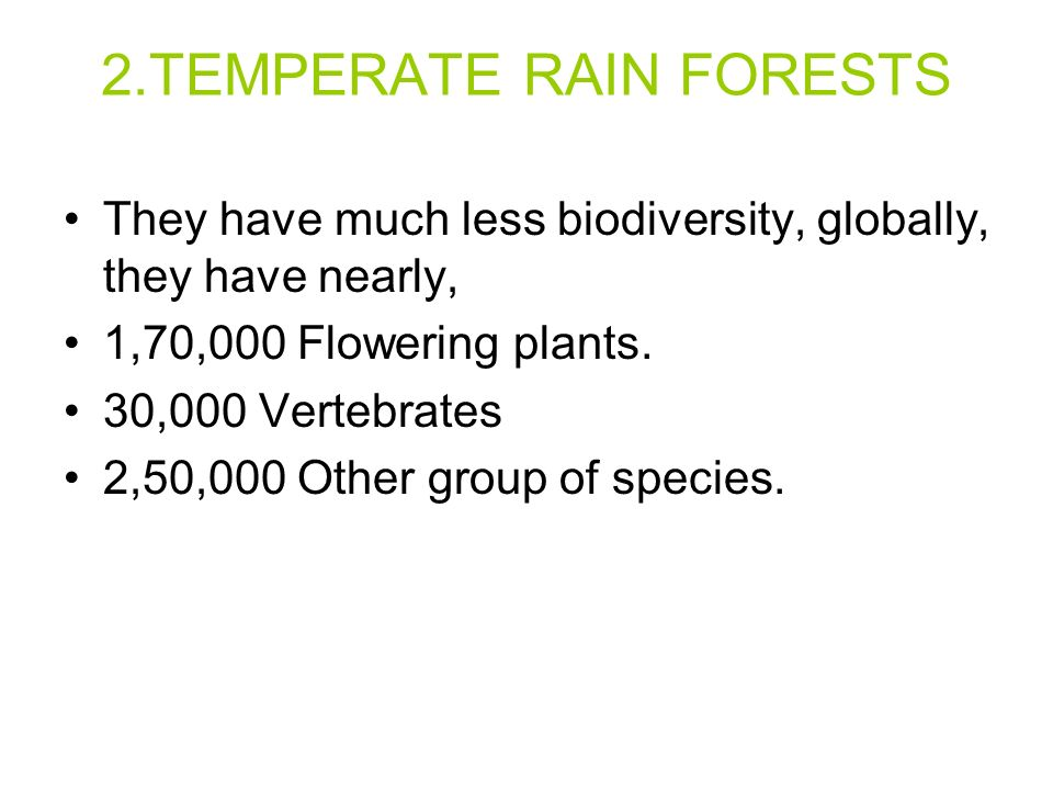 2.TEMPERATE RAIN FORESTS