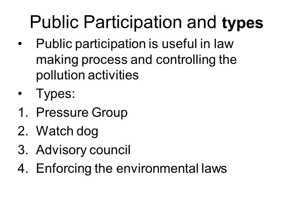 Public Participation and types
