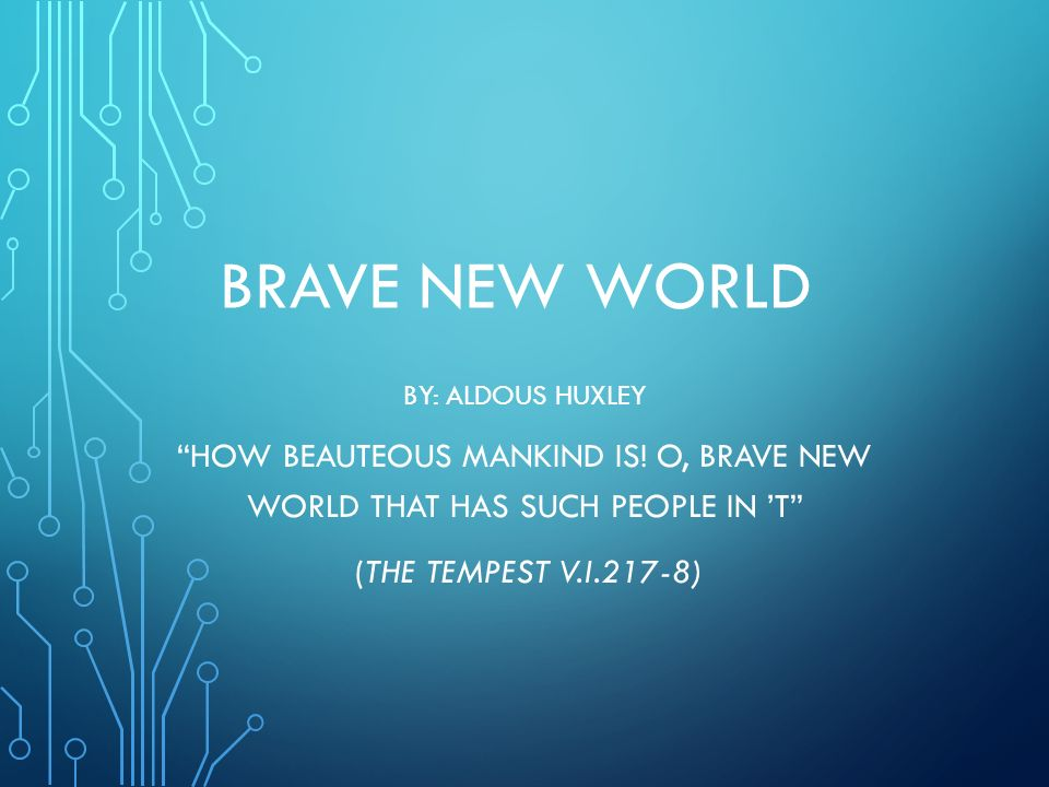 o brave new world the tempest