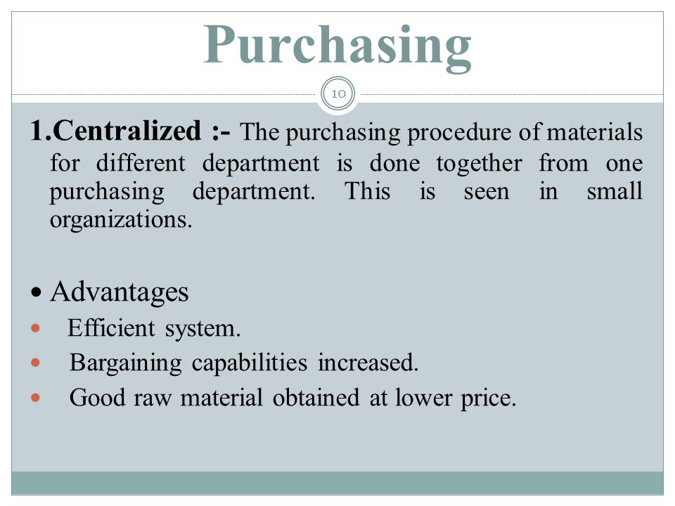 purchase procedure in material management