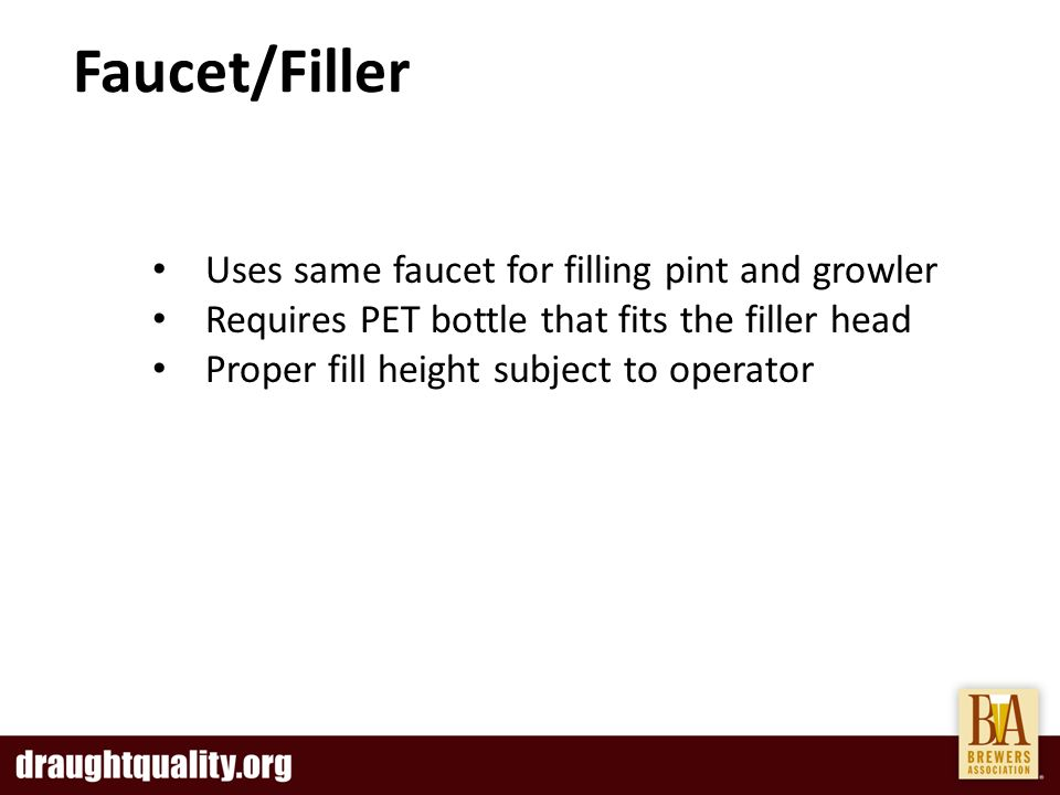 The Growing Growler Trend Growler Filling Methods - ppt video online ...