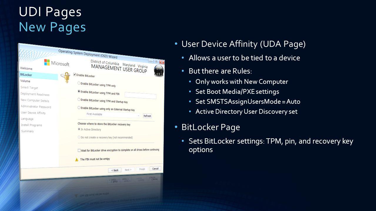 Introduction to MDT 2012 User Driven Installs (UDI) - ppt