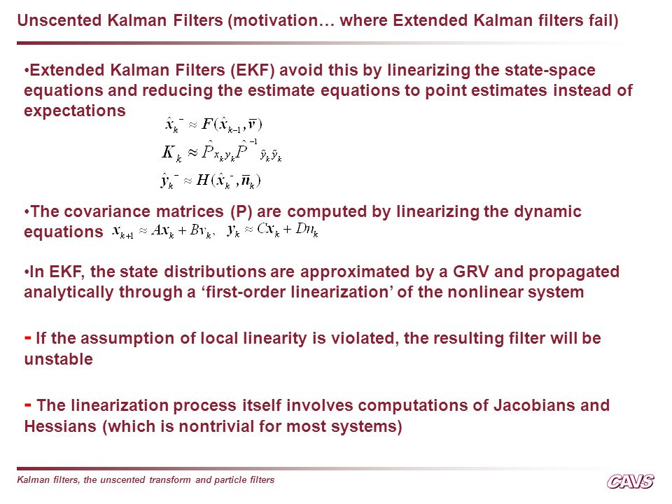 Nonlinear State Estimation - ppt video online download
