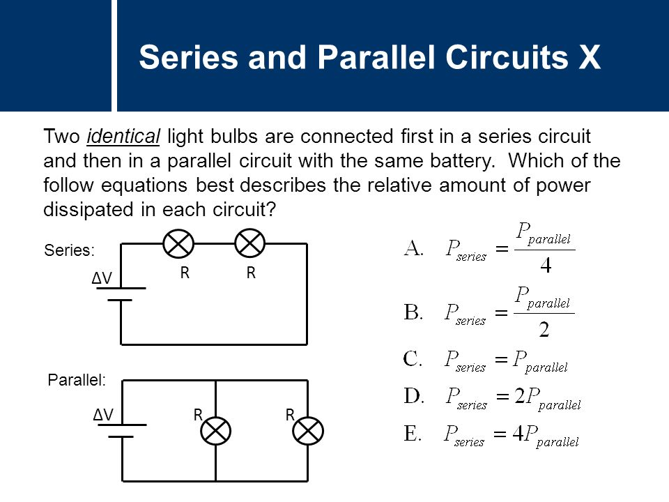 Physics Circuits Parallel Ppt Video Online Download